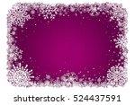 purple christmas background... | Shutterstock .eps vector #524437591