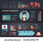 vector set of education ... | Shutterstock .eps vector #524439679