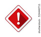 exclamation danger sign | Shutterstock .eps vector #524440711