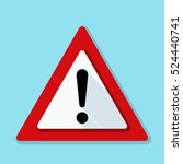 exclamation danger sign | Shutterstock .eps vector #524440741