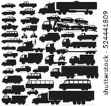 cars icon set. vector transport ... | Shutterstock .eps vector #524441809