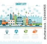 smart contemporary city... | Shutterstock .eps vector #524444905
