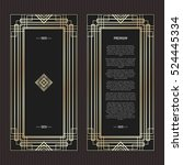 vector geometric cards in art... | Shutterstock .eps vector #524445334