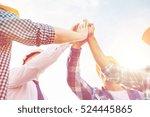 business  building  partnership ... | Shutterstock . vector #524445865