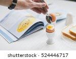 boiled eggs for breakfast | Shutterstock . vector #524446717
