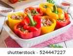 stuffed peppers | Shutterstock . vector #524447227
