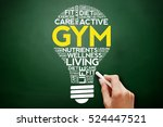 gym bulb word cloud collage ... | Shutterstock . vector #524447521