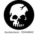 Skull Black Circle