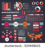huge vector set of infographic... | Shutterstock .eps vector #524448631