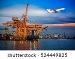 logistics and transportation of ... | Shutterstock . vector #524449825