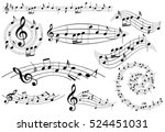 music design elements with... | Shutterstock .eps vector #524451031