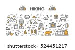 vector line concept for hiking. ... | Shutterstock .eps vector #524451217