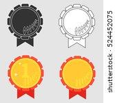 sport medal  award  winning... | Shutterstock .eps vector #524452075
