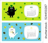Cat Horizontal Calendar 2017....