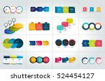 mega set of 3 steps infographic ... | Shutterstock .eps vector #524454127