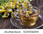 cup of medicinal chamomile tea...   Shutterstock . vector #524456044