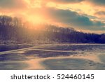 vintage photo of idyllic winter ... | Shutterstock . vector #524460145