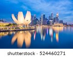 View Of Marina Bay At Night In...