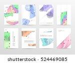 geometric background template... | Shutterstock .eps vector #524469085
