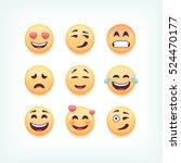 set of emoticons  emoji... | Shutterstock .eps vector #524470177