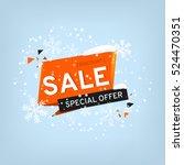 winter sale banner design. sale ... | Shutterstock .eps vector #524470351