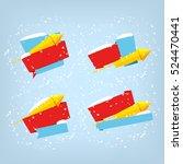 super sale  mega sale  happy... | Shutterstock .eps vector #524470441