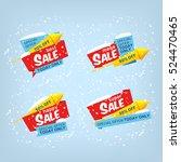 super sale  mega sale  happy... | Shutterstock .eps vector #524470465