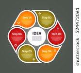 circular arrows for... | Shutterstock .eps vector #524472061