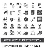 set of premium quality security ... | Shutterstock .eps vector #524474215