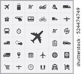 airplane icon. delivery icons... | Shutterstock .eps vector #524474749