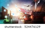 business logistics concept ... | Shutterstock . vector #524476129