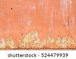 Old Orange Wall Texture Detail...