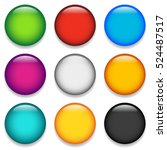 glossy colorful circle  sphere  ... | Shutterstock .eps vector #524487517