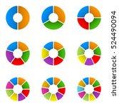 circular diagram set. pie chart ... | Shutterstock . vector #524490094