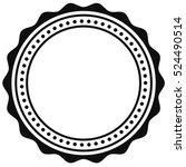 badge  seal element. contour of ... | Shutterstock .eps vector #524490514