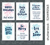 merry christmas. happy new in... | Shutterstock .eps vector #524490565