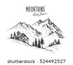 hand drawn vector illustration... | Shutterstock .eps vector #524492527