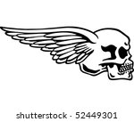 Side Skull With Wings