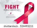 february 4  world cancer day.  | Shutterstock .eps vector #524493211