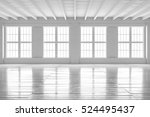 White Empty Room With Big...