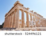 Ancient Parthenon In Acropolis...