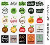 set of certified gluten free...   Shutterstock .eps vector #524499799