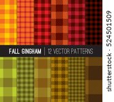 fall gingham and buffalo check... | Shutterstock .eps vector #524501509