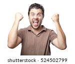 latin handsome gestures on white | Shutterstock . vector #524502799
