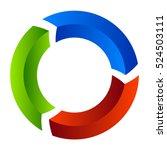 segmented circle arrow.... | Shutterstock .eps vector #524503111