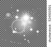vector transparent sunlight... | Shutterstock .eps vector #524503501
