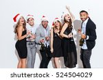 group of smiling playful young... | Shutterstock . vector #524504029
