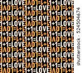 pattern of love tag. | Shutterstock .eps vector #524504674