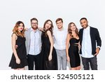group of happy young people... | Shutterstock . vector #524505121