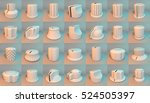 white 3d render of audio knobs